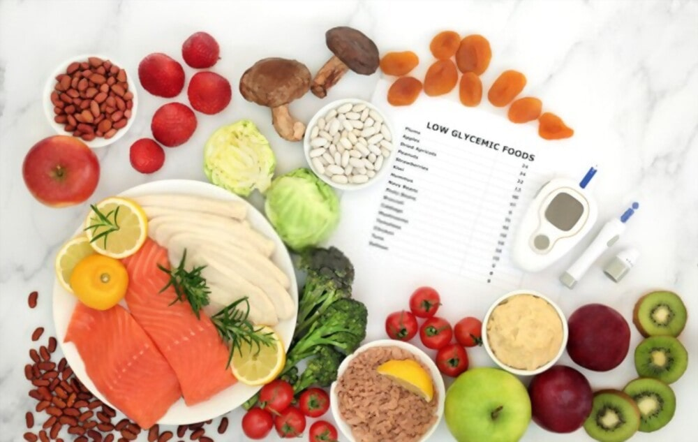 Low glycemic index to manage high blood sugar level