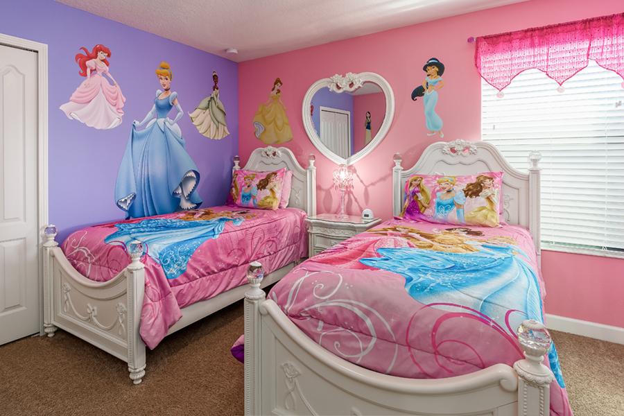 Sleeping With Disney Princesses in Princess Bedroom