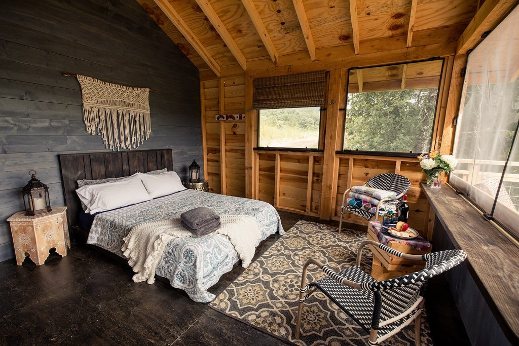 use a variety of wood in bedroom