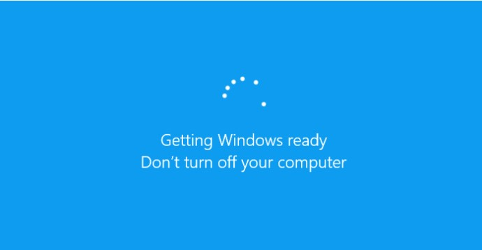 getting windows ready don't turn off your computer