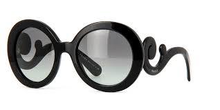 Prada Black Baroque Round Sunglasses | 27NS 1AB3M1| As Seen On Mo'Nique |  PRETAVOIR