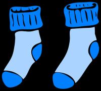 Skarpetki, Zima, Ciepły, Niebieski
