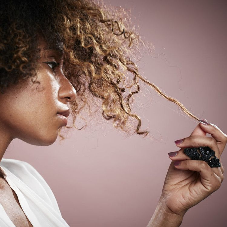 Hair textures are set apart by the curl pattern