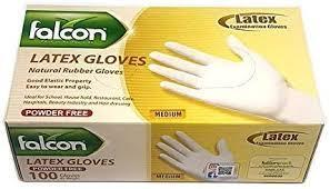 Falcon Latex Gloves (M) Powder Free - 100 Pieces: Amazon.ae