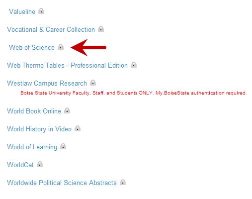 databases list