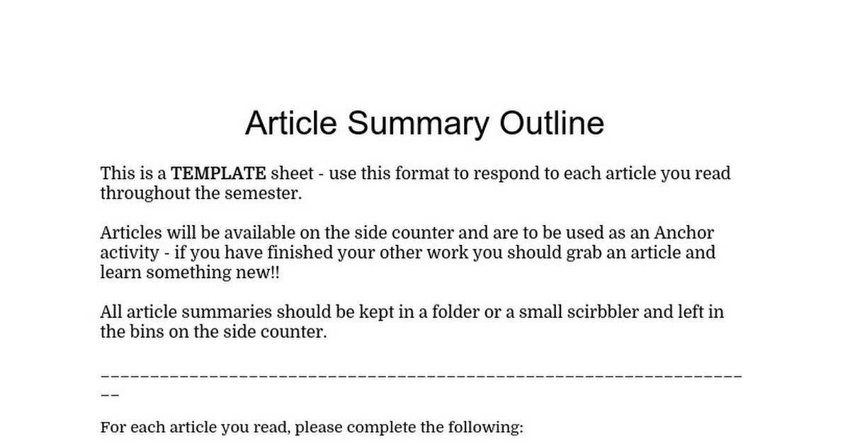 Article Summary Worksheet 2.doc - Google Docs