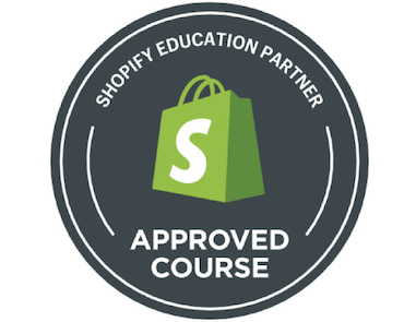 Shopify Approved Course Logo