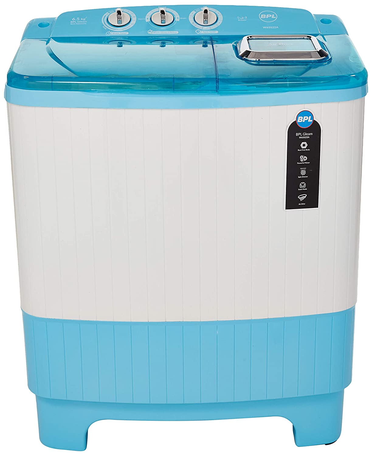 BPL 6.5 Kg W65S22A Semi-Automatic Top Loading Washing Machine