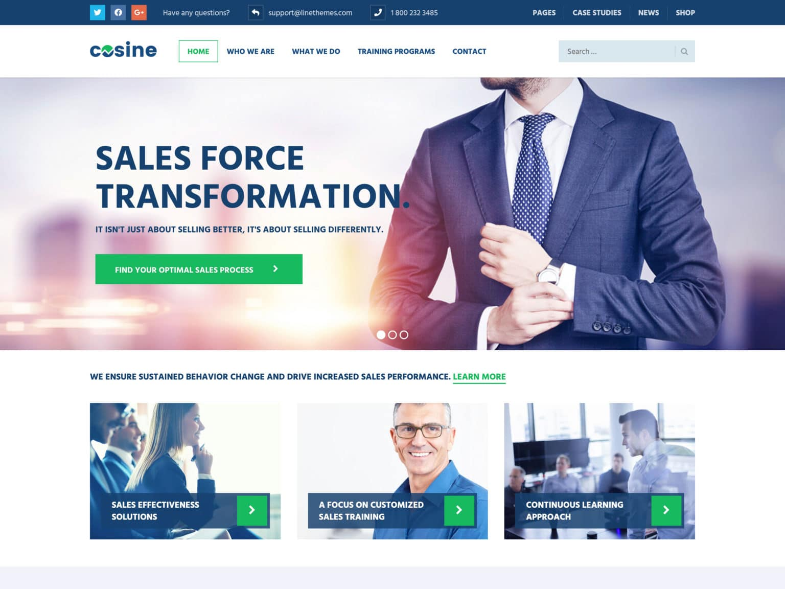 Cosine WordPress Theme