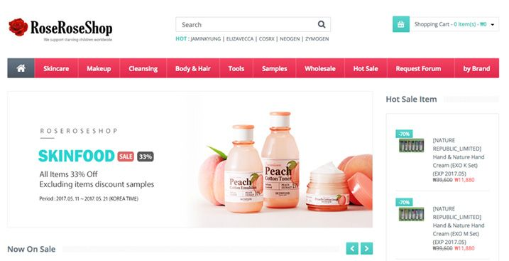 Roseroseshop-opencart-website