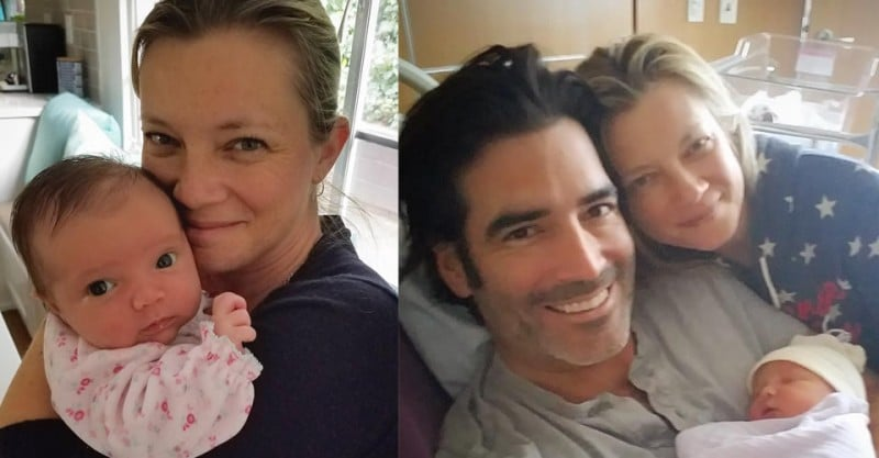 Amy smart with family