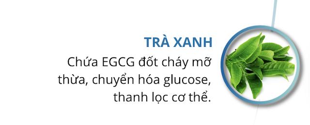 Trà xanh trong keto Slim chuyển hóa glucose