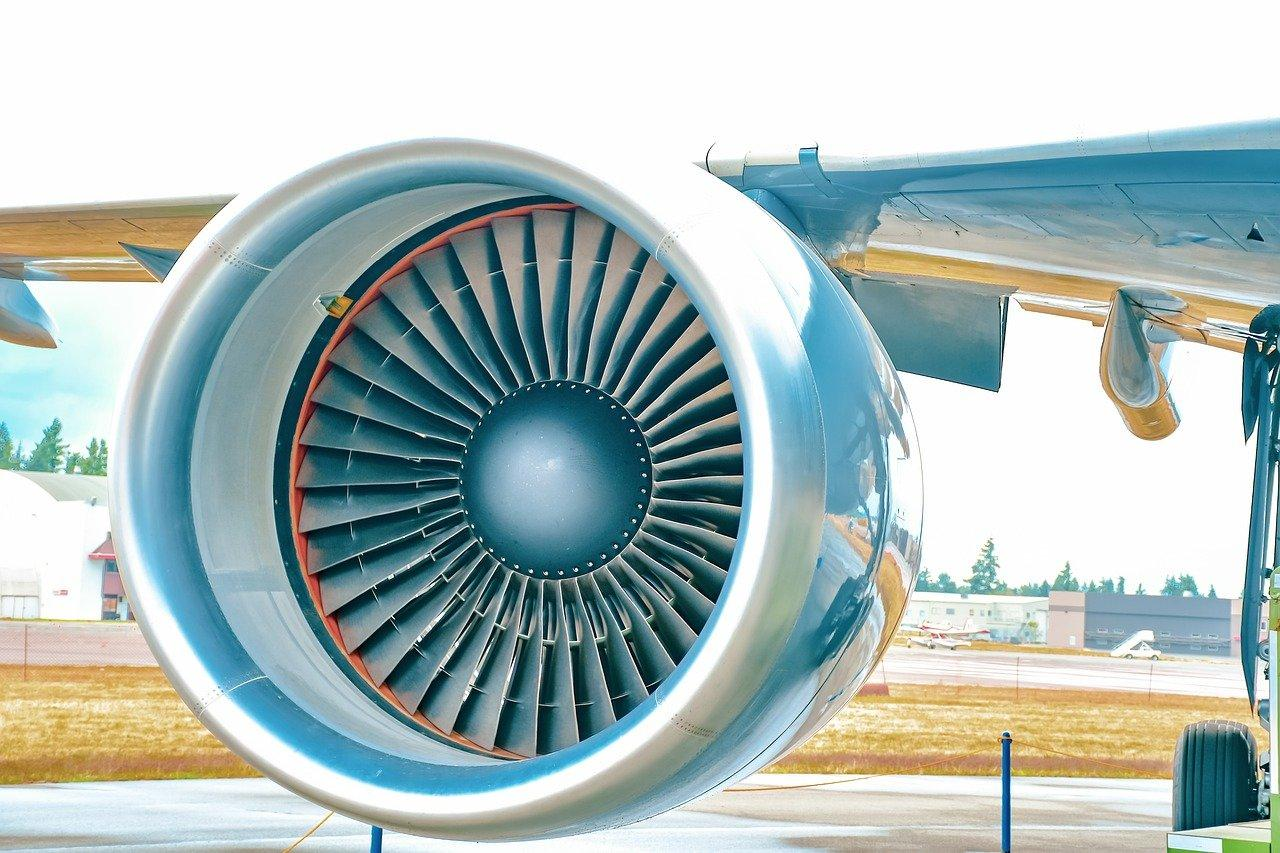 A jet engine  Description automatically generated