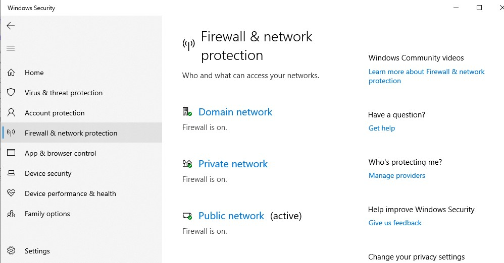Firewall & network protection