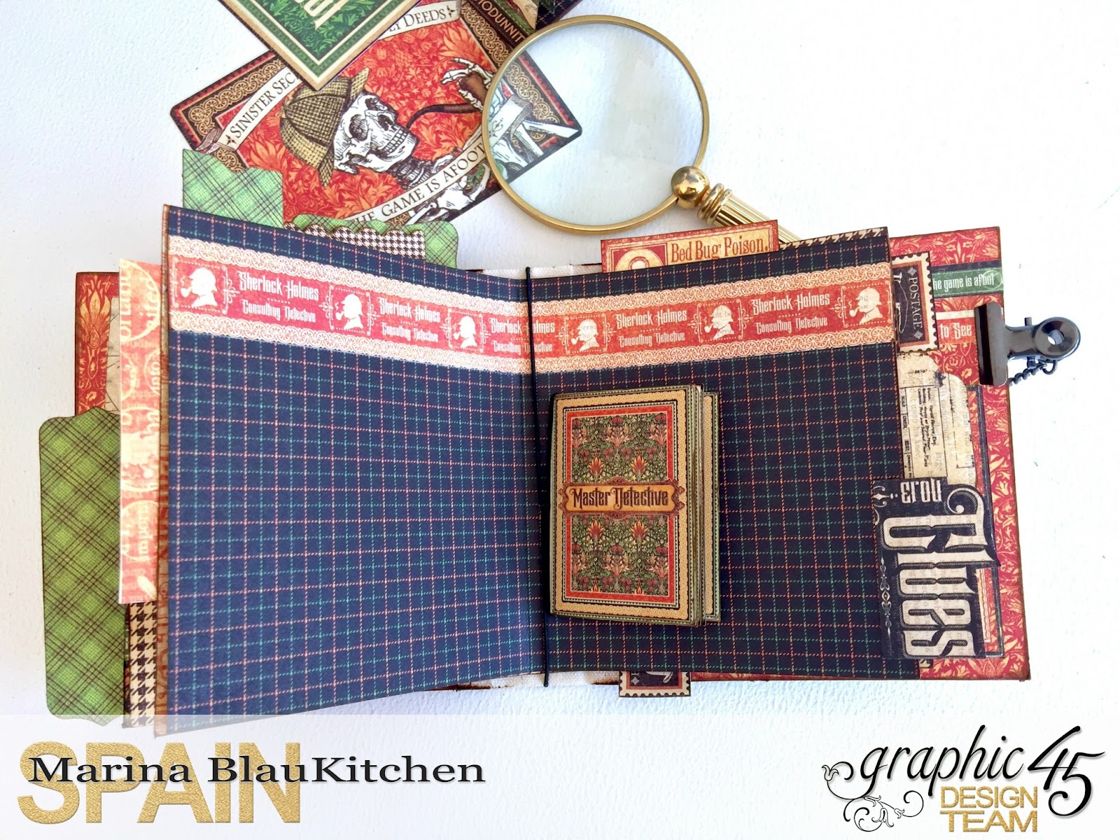 Stand and Mini Album Master Detective by Marina Blaukitchen Product by Graphic 45 photo 19.jpg