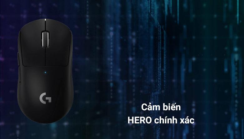 Chuột không dây gaming Logitech G Pro X - Super Light (Đen) | Cảm biến Hero chính xac