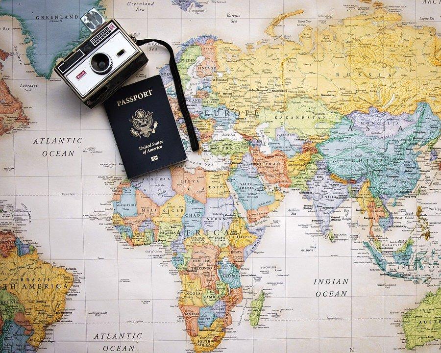 Passaporte, Mapa, Mundo, Viagem, Turismo, Férias