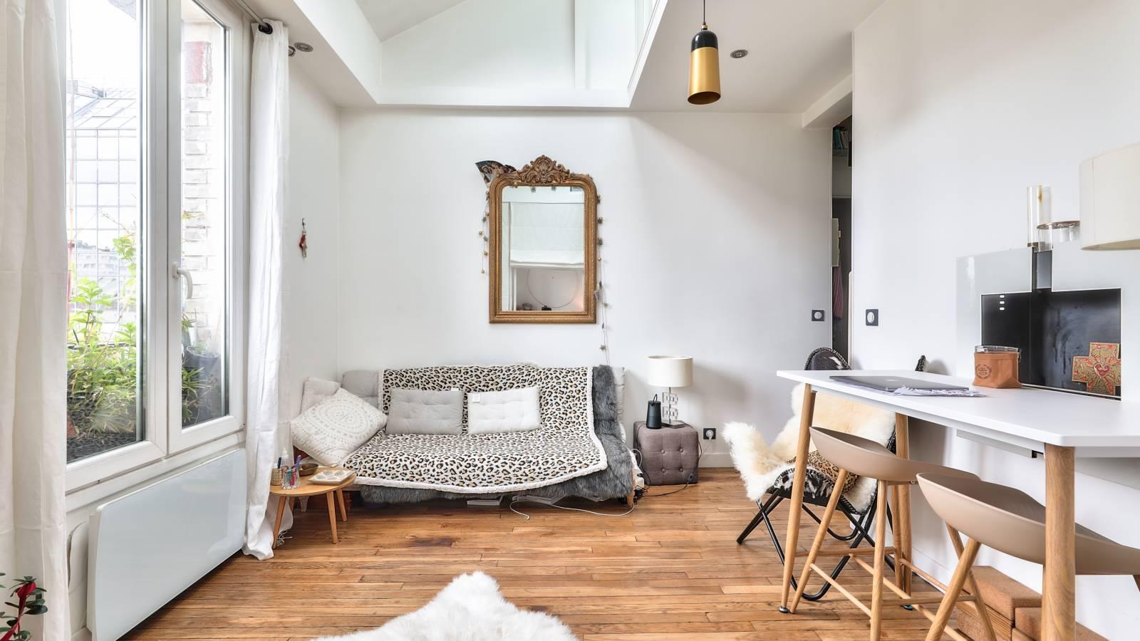 Sala de estar/cocina espaciosa y luminosa