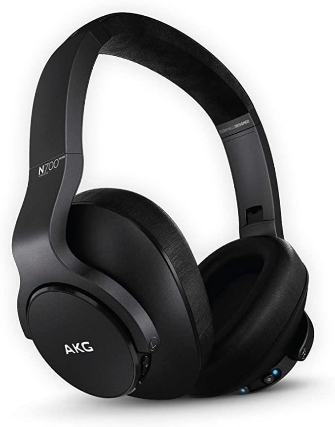 AKG (A Samsung Brand) N700NC M2 Over-Ear Foldable Wireless Headphones, Active Noise Cancelling Headphones - Black (US Version), 2.6, Model:GP-N700HAHCIWA