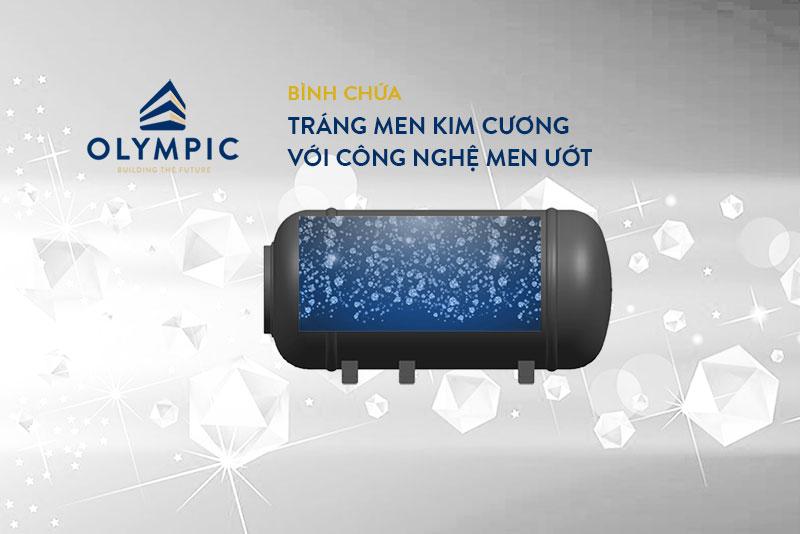 Công nghệ tráng men kim cương ở bình nóng lạnh Olympic Atlas