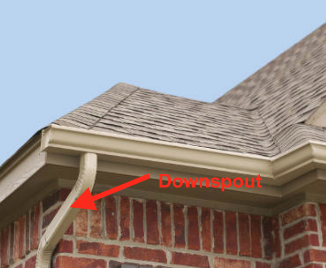 gutter with downspout