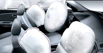 Air bag made of technical textiles