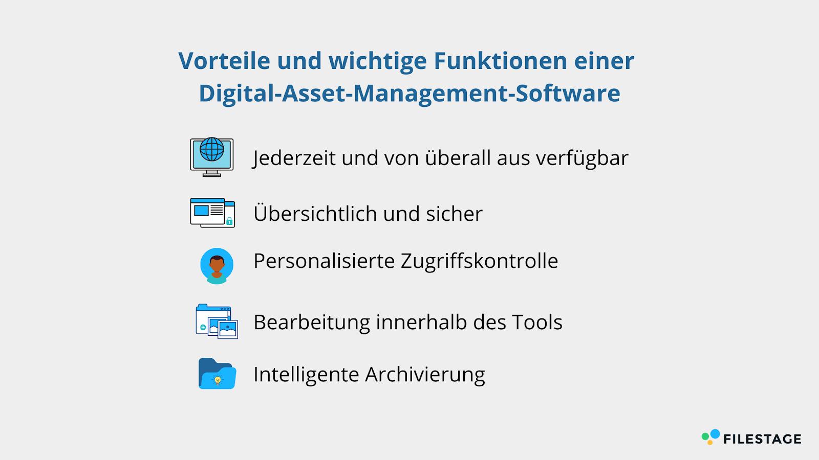 Vorteile und wichtige Funktionen einer DAM-Software