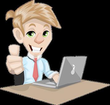 Man, Adult, Businessman, Laptop, Working
