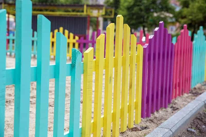 Bright and Beautiful garden fence