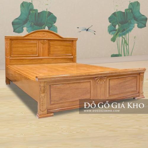 Giường Ngủ Gỗ Gõ Nữ Hoàng - GN130