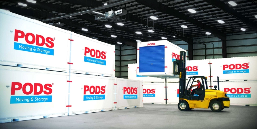 PODS portable moving and storage containers can simplify a move that includes temporary housing.