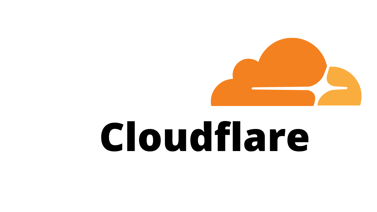 This image shows the logo of Cloudflare