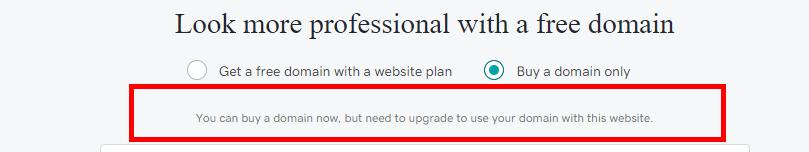 buying domain on godaddy website builder