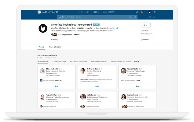Insights and recommendations make LinkedIn Sales Navigator a powerful tool