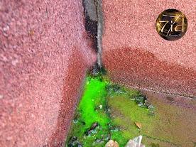 Infiltration eau de pluie par une fissure du mur