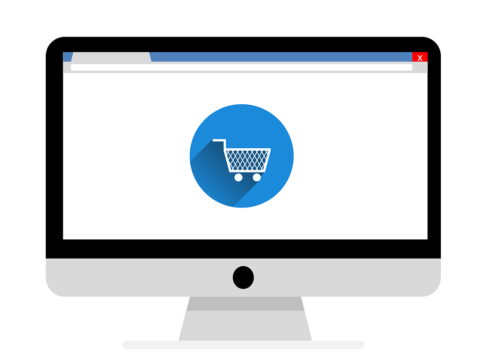ecommerce-online-shopping cart on a computer screen
