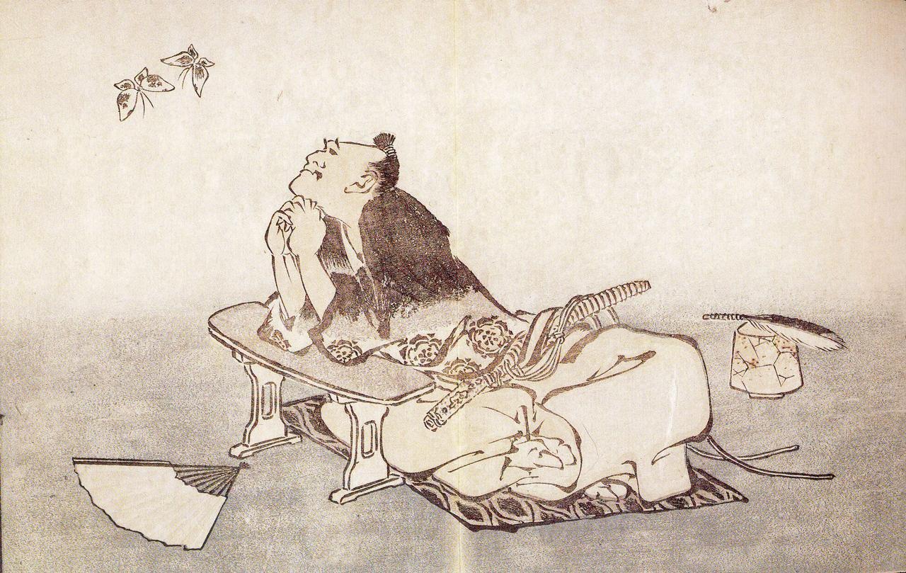 C:\Users\K\Google Drive\ΕΡΓΑ\Ατελη\Πεταλουδα\Hokusai - Philosopher watching a pair of butterflies.jpg