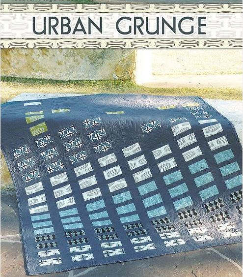 Urban Grunge quilt - pattern available on Bluprint.com