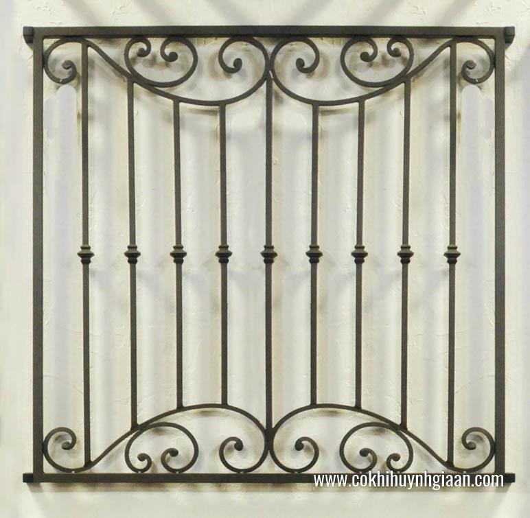 Mẫu song cửa sổ sắt có thiết kế đơn giản phù hợp với mọi không gian và diện tích