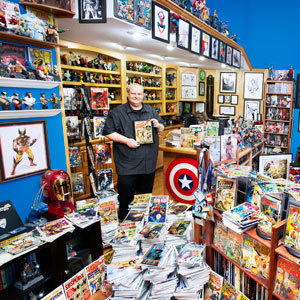 Largest comic book collection! Man, you are a dream.