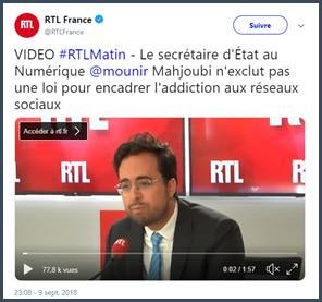 mounir mahjoubi addiction réseaux sociaux