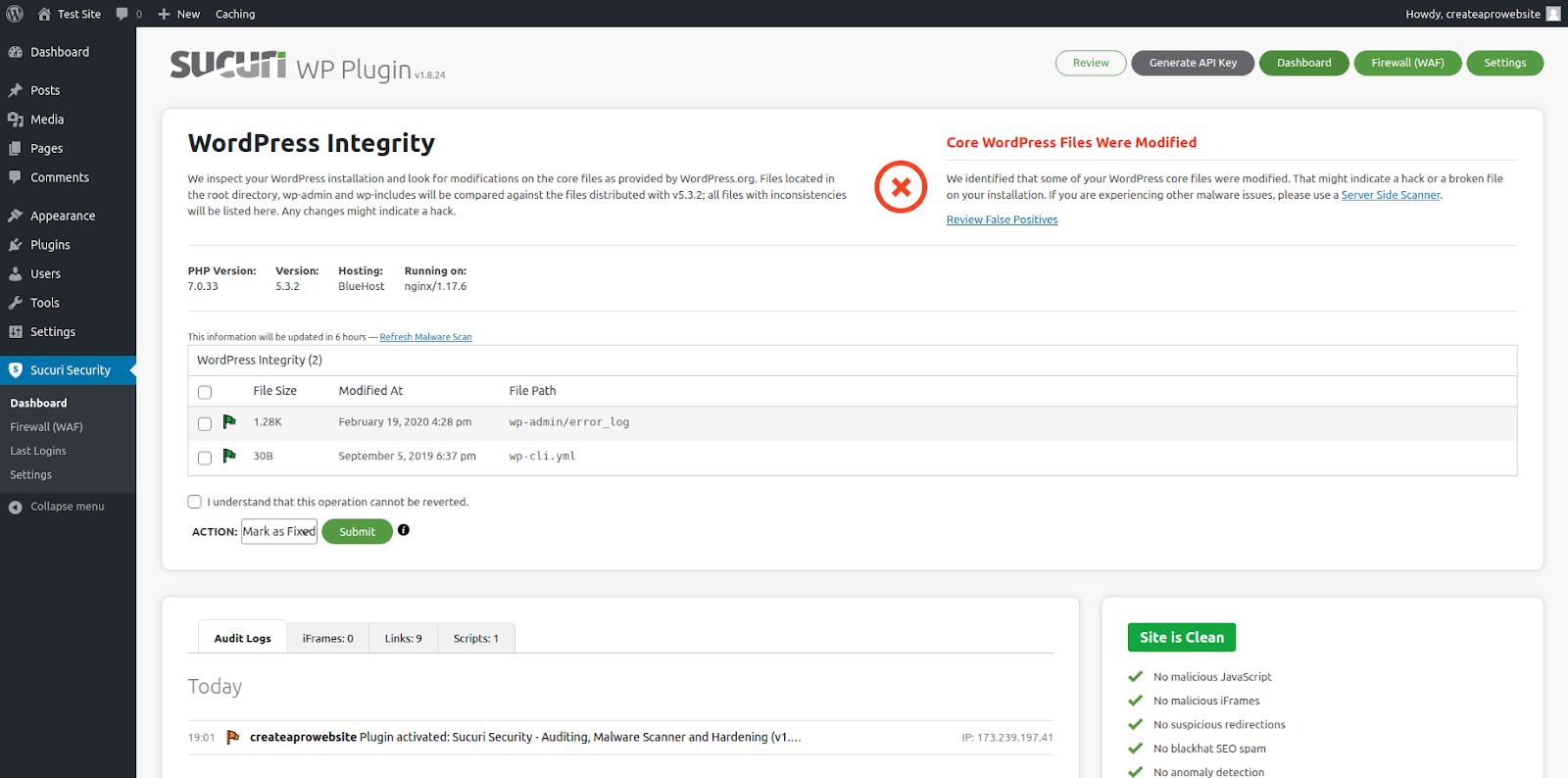 sucuri wordpress security plugin features