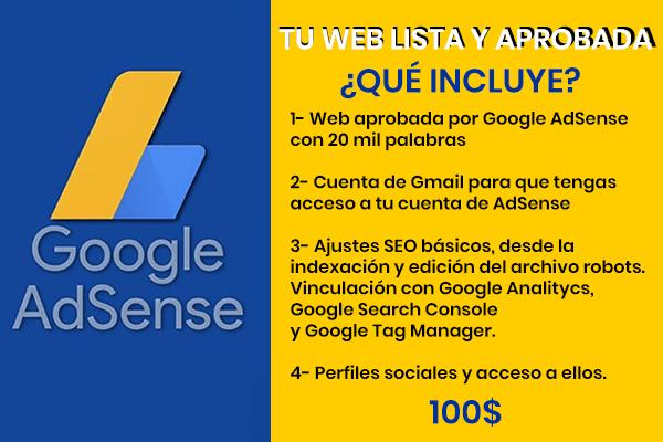 Pasos para ser aprobado por Google AdSense | Incluye Plantilla