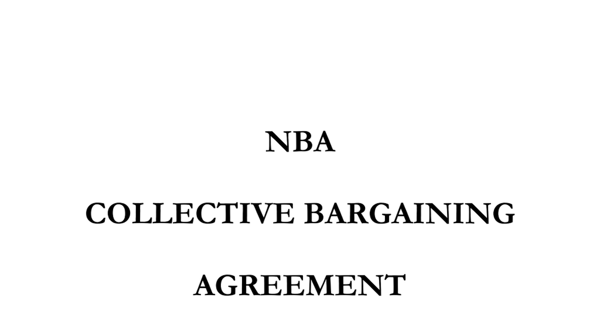 2011 Nba Cba Bookmarked By Nate Duncanpdf Google Drive