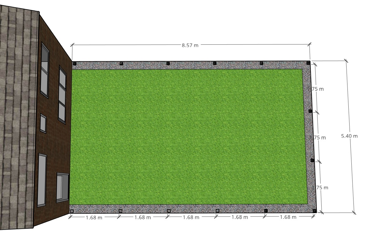 Spacing used for slatted fence posts