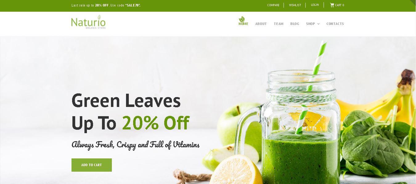 Organic woocommerce themes Naturio Food Store