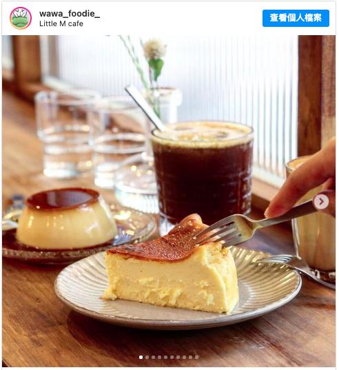 位在捷運古亭站的咖啡廳 little M,有好喝的咖啡與巴斯克乳酪蛋糕、布丁