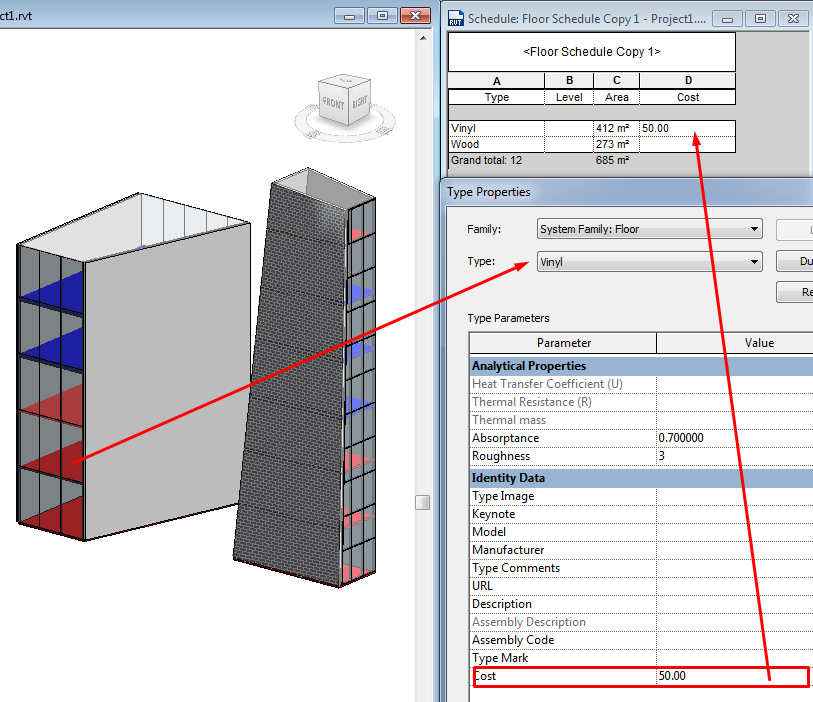 Quantities TakeOff - Operation in Revit - Modelical