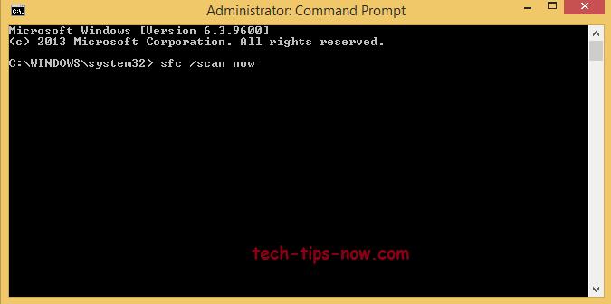 Run a SFC (System File Checker) Scan to fix error code 0x80070026