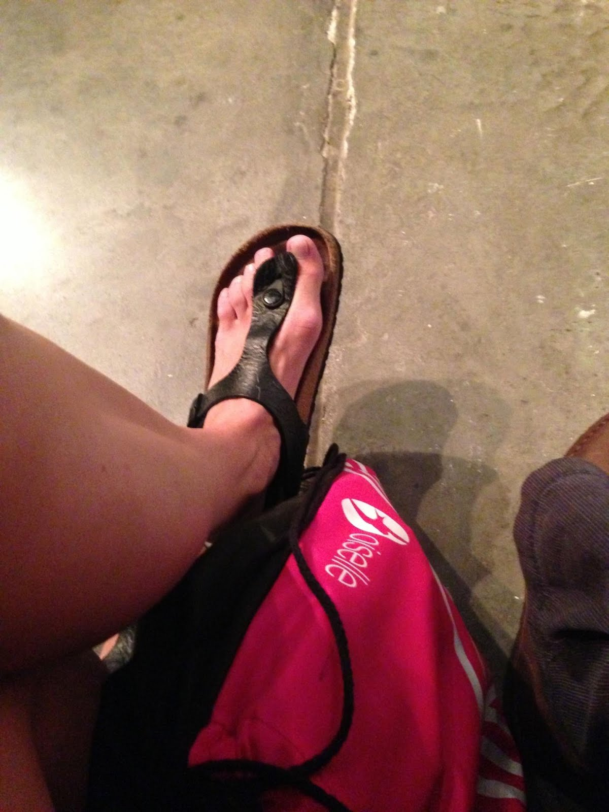 Birkenstocks at the NYFW Oiselle fashion show